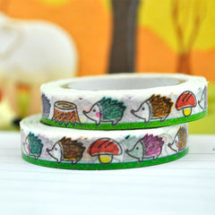 Hedgehog Slim Washi Tape