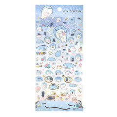 Jinbei-San Stickers-Lovely Friends Dark Blue
