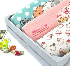 Molang Polka Dot and Treats Pencil Pouch Up Close