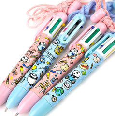 Moongs Landyard 6 Color Retractable Pen