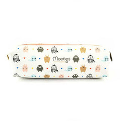 Moongs Pencil Pouch-Moons Zoo (White)