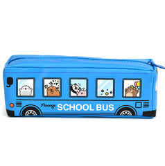 Moongs School Bus Pencil Case-Blue