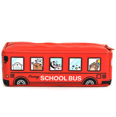 Moongs School Bus Pencil Case-Red