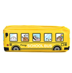 Moongs School Bus Pencil Case-Yellow
