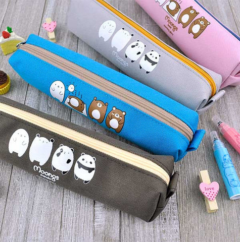 Moongs Panda and Bear Pencil Pouch