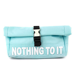 Nothing To It Pencil Pouch-Light Blue