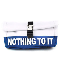 Nothing To It Pencil Pouch-White and Navy