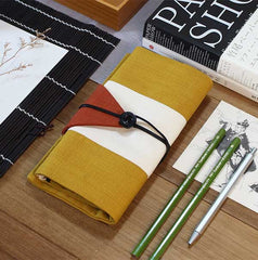 Osamu Titian and Gingerline Japanese Pencil Roll Case