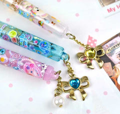 Ribbon and Pearls Jeweled Pencil Toppers