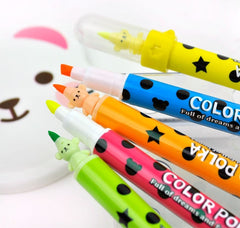 Scented Double Ended Highlighter and Polka-Dot Tip Marker