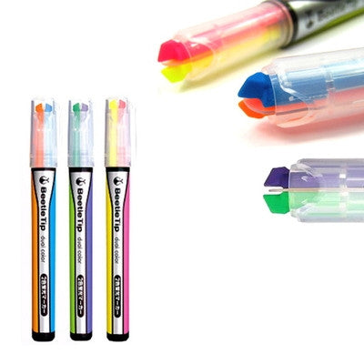 Beetle Tip Dual Color Highlighter Set