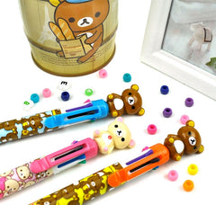 Oversized Rilakkuma 8-Color  Retractable Ballpoint Pen
