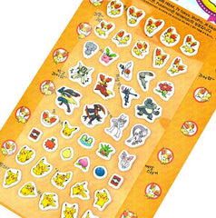 Pokemon Stickers-Orange