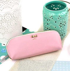Pastel Bow Pencil Pouch-Pastel Pink