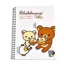 Rilakkuma Breakfast Notebook-White Breakfast Date