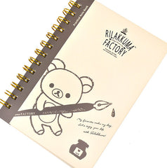 Rilakkuma Factory Notebook-Beige/Gray