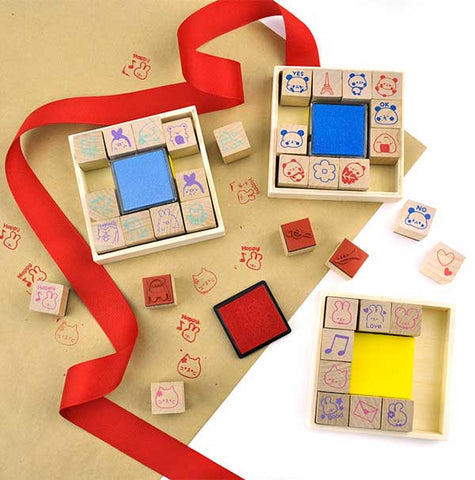 Wooden Deluxe Stamp Set