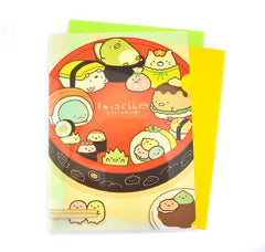 Sumikko Gurashi Sushi File Folder- Bold Red Sushi Bowl