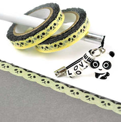 Smiling Faces Slim Washi Tape-Cute Pandas