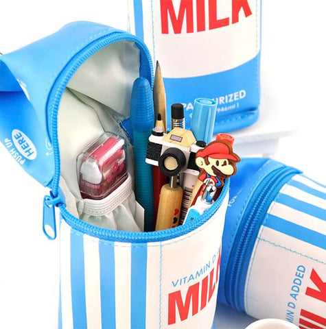 Vintage Milk Carton Pencil Case