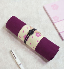 Cherry Blossom Asian Pencil Roll Case