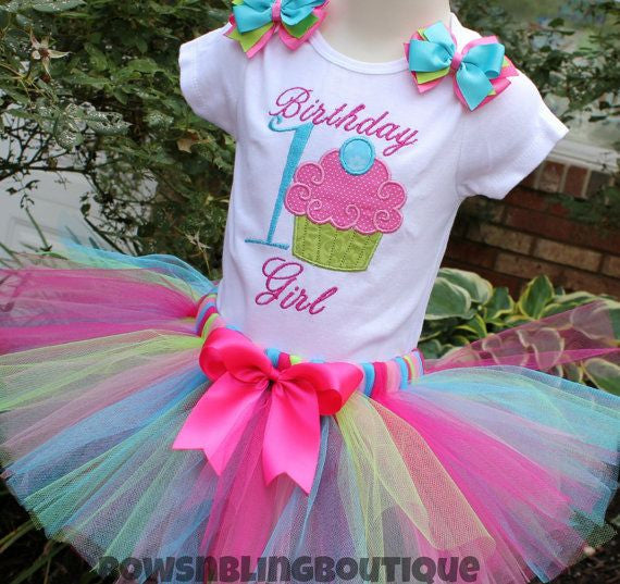 1st Birthday Outfit Cupcake Tutu First Birthday
