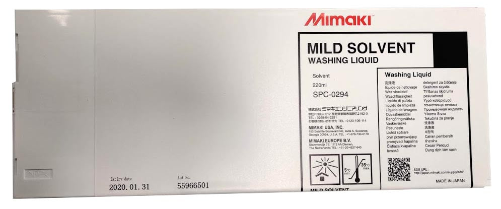 Mimaki Mild Solvent Cleaning Liquid (220ml cartridge) - SPC-0294