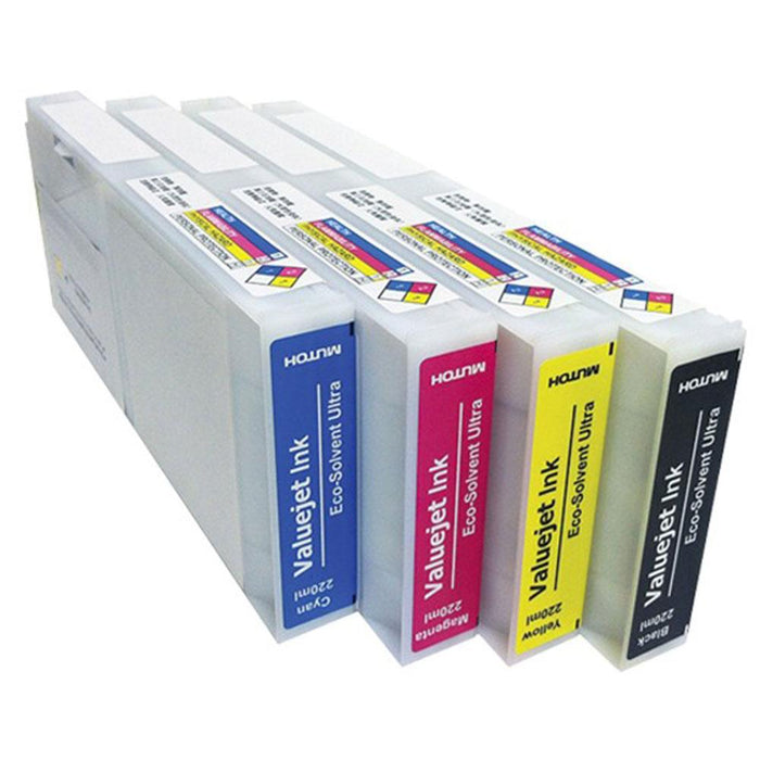 Mutoh Eco Ultra Solvent Ink VJ628X / 1628X /1324X 1624X / 1638X CMYK 220ML