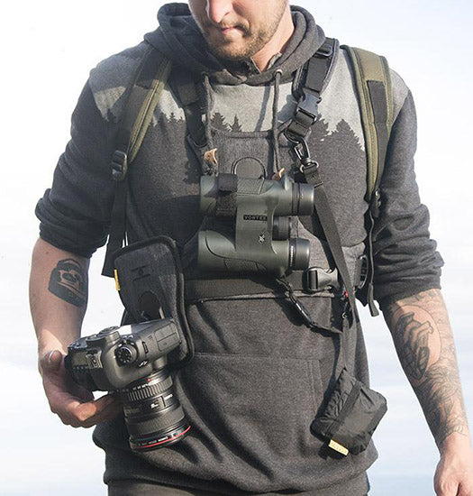 Cotton Carrier Charcoal Grey Camera & Binocular Camera Harness