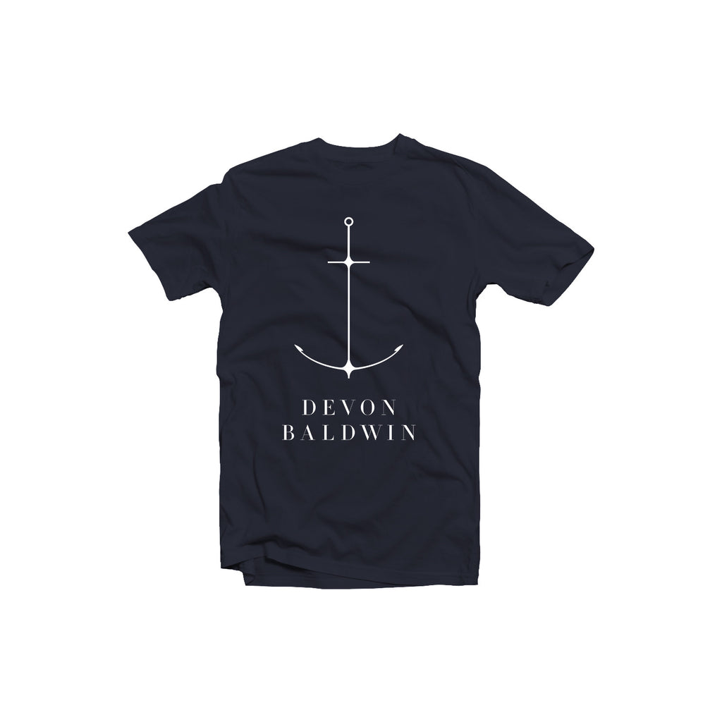 Navy Anchor Tee