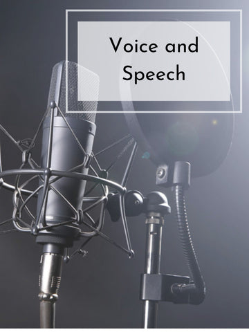 Voice and Speech | Fall 20 | Saturdays, 8 Weeks