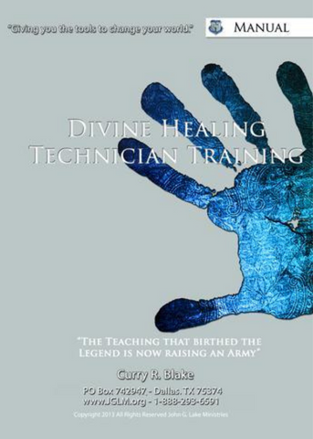 2020 Divine Healing Technician Training Manual (English) - Slightly Imperfect (Physical Manual)