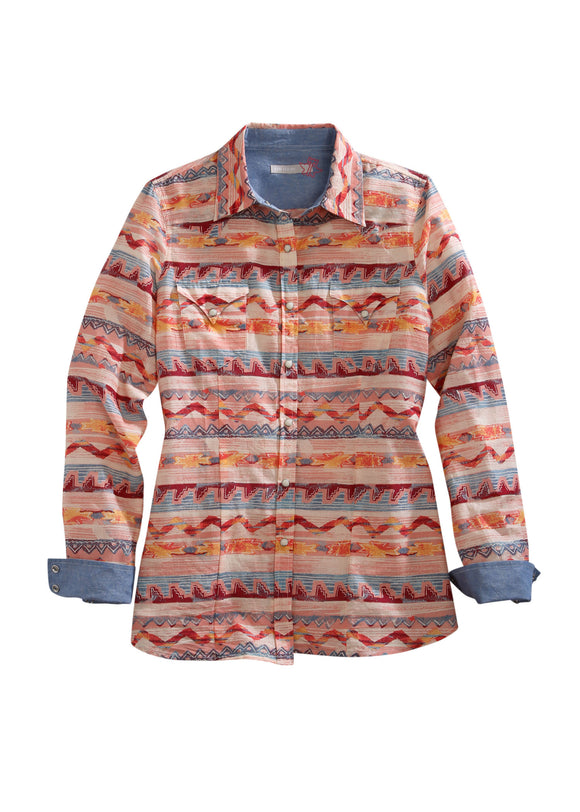 WOMENS LONG SLEEVE WESTERN SNAP SHIRT