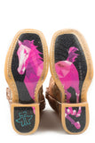 LITTLE GIRLS MISH AND MASH WITH GEOMETRIC PONY SOLE