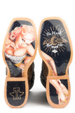 MENS WHAT'S YOUR ANGLE WITH PIN UP GIRL SOLE