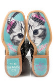 WOMENS CHECKERED PAST WITH MEOW OR NEVER SOLE