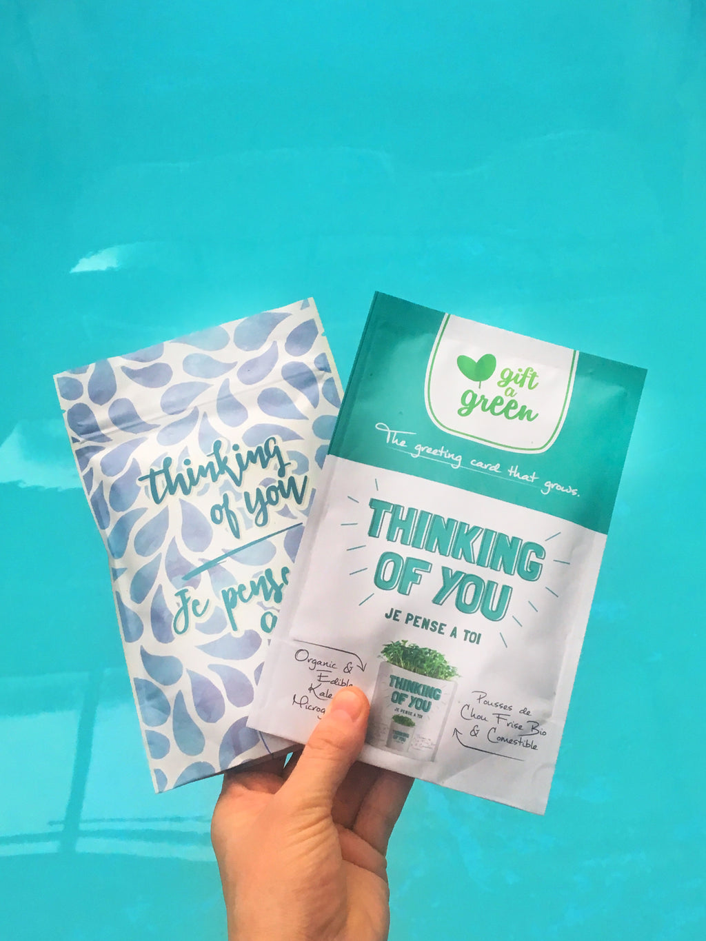 Gift-a-Green Thinking of You Combo Pack with Kale Seeds and Sleep Fairy Tea