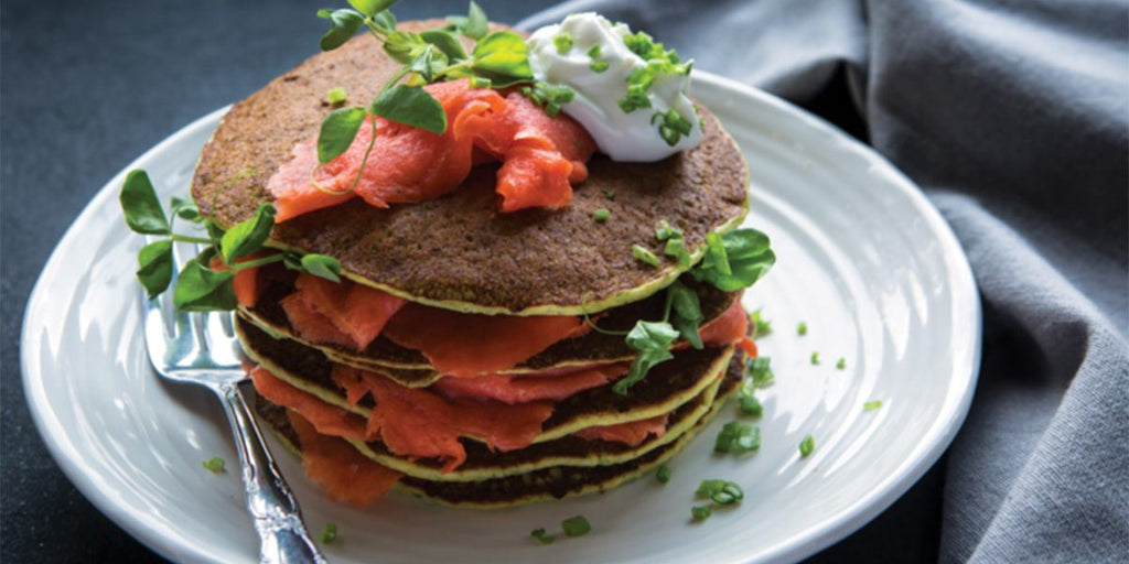 GiftaGreen Pea Shoot Pancake Recipe