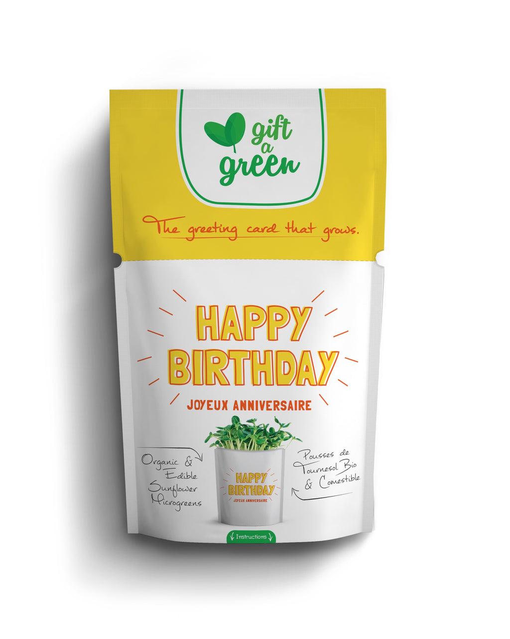 Microgreens Collection | Happy Birthday | Sunflower Microgreens