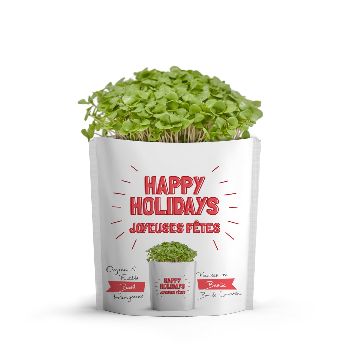 Microgreens Collection | Happy Holidays | Basil Microgreens - Gift-a-Green