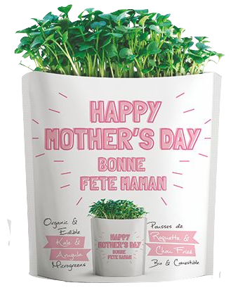 Microgreens Collection | Happy Mother's Day | Kale and Arugula Microgreens - Gift-a-Green