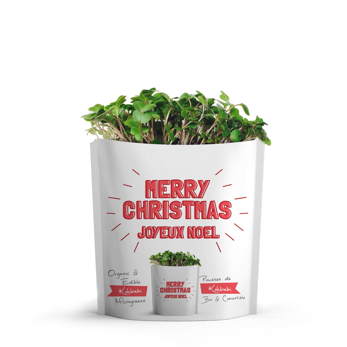 Microgreens Collection | Merry Christmas | Kohlrabi Microgreens - Gift-a-Green