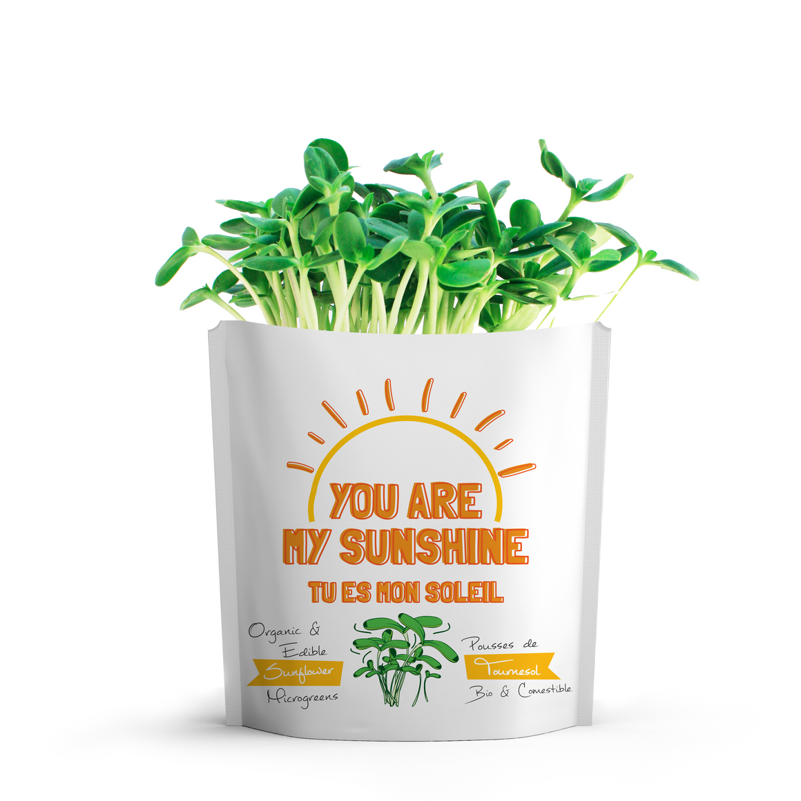 Microgreens Collection | You Are My Sunshine | Sunflower Microgreens - Gift-a-Green