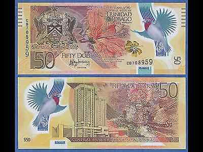 Trinidad and Tobago 50 Dollars New 2014 Polymer Commemorative Uncirculated.