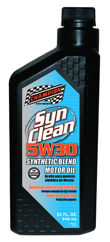 CHAMPION BRANDS 5W-30 Syn-Blend #4231H Oil 1Qt For Cars and Trucks