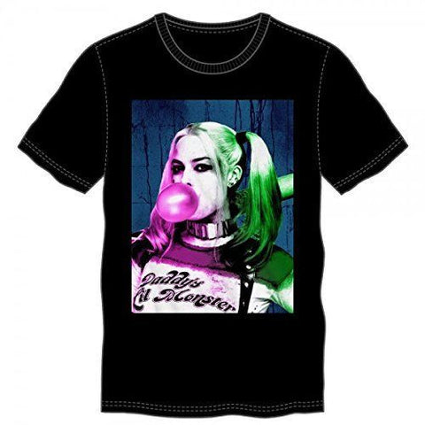 Suicide Squad Harley Quinn Bubble Gum T-Shirt (Small)