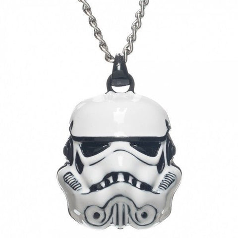 Star Wars 3D Storm Trooper Pendant Necklace 24 in chain Free Ship