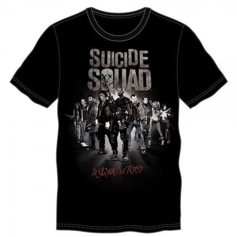 Suicide Squad Group In Squad We Trust Tee Shirt