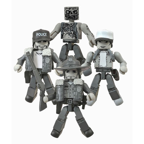 The Walking Dead Days Gone Bye Black and White Minimates Box Set - SDCC 2014 Exclusive