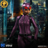 Mezco ONE:12 COLLECTIVE Catwoman Purple Suit Exclusive Action Figure